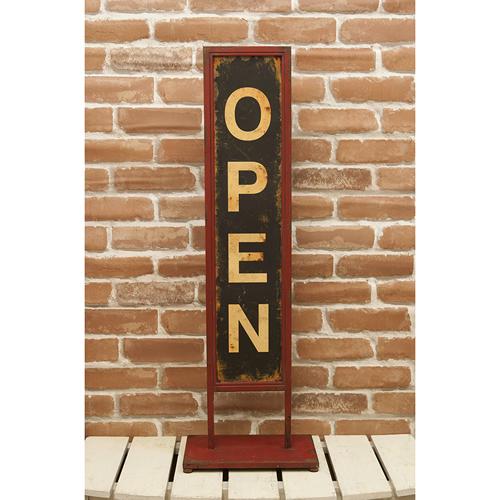 店舗用 看板 アンティークデザイン スタンド式 看板 オープン クローズ スタンド サインボード OPEN CLOSED ビンテージ デザイン 古い看板 アメリカン雑貨