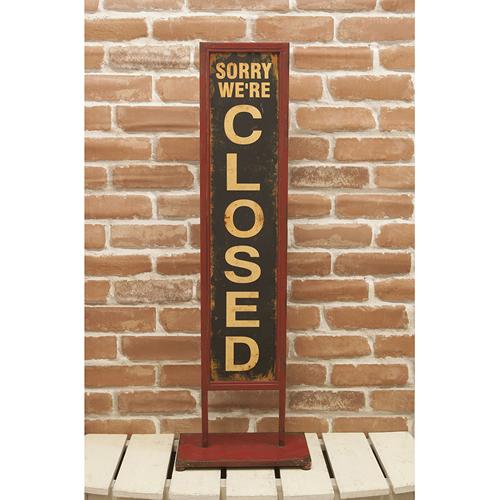 开放的古董式样台灯式招牌/关闭台灯签名板OPEN/CLOSED