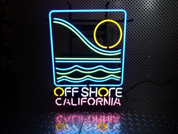 アメリカ西海岸 オフ・ショア(カリフォルニア) ネオン管 ネオンサイン ネオン看板 西海岸風 インテリア アメリカン雑貨
