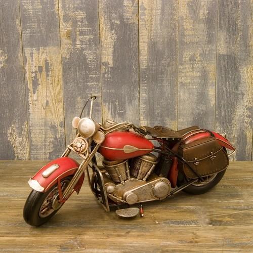 オールドアメリカンバイク!ビンテージブリキバイク/レッド ミニチュア ブリキバイク