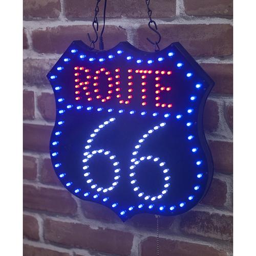 Route 66 ルート66 LED ネオンボード 電光板 電飾ボード 西海岸風 インテリア アメリカン雑貨