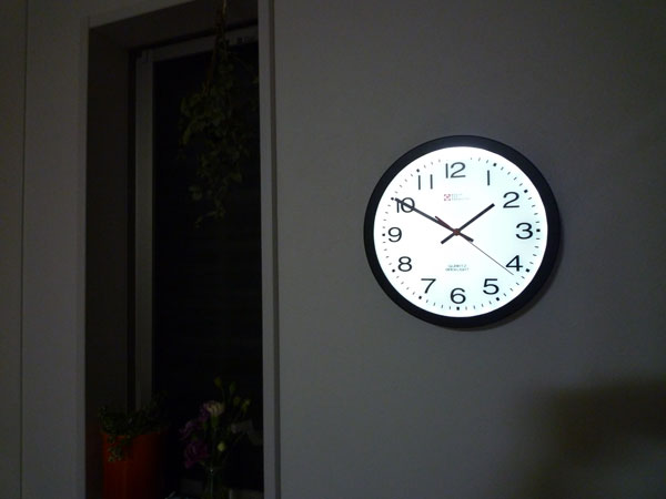 Lavieen rakuten global market simple and powerful lighted wall lighted wall clock number wall clock clock led clock light up wall clock aloadofball Image collections