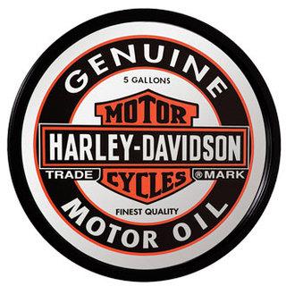 【HARLEY-DAVIDSON】ハーレーダビッドソン <オイルカン>ミラー(丸型) HDL-15216 パブミラー アメリカンミラー 西海岸風 インテリア アメリカン雑貨