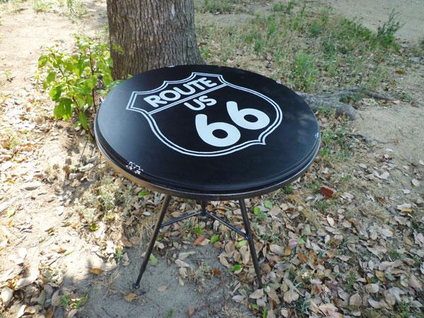 ルート66 ガレージテーブル ガーデンテーブル テーブル ビンテージガレージ アウトドア BBQ レジャー 西海岸風 インテリア アメリカン雑貨