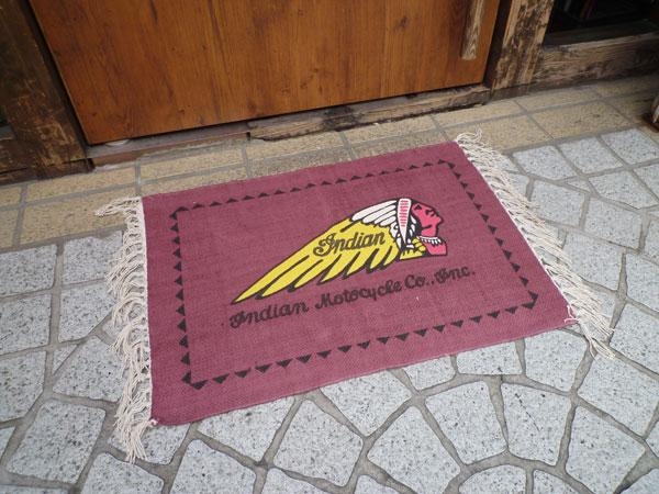 Garage mat (Indian) cotton mat doorstep mat of Indian モトサイクル