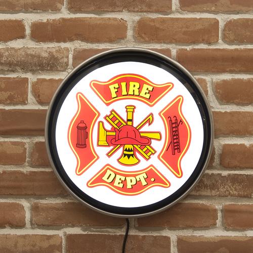 ラウンドウォールランプ FIRE DEPT(消防局) 壁掛けランプ アメリカンランプ バーランプ バー 西海岸風 インテリア アメリカン雑貨
