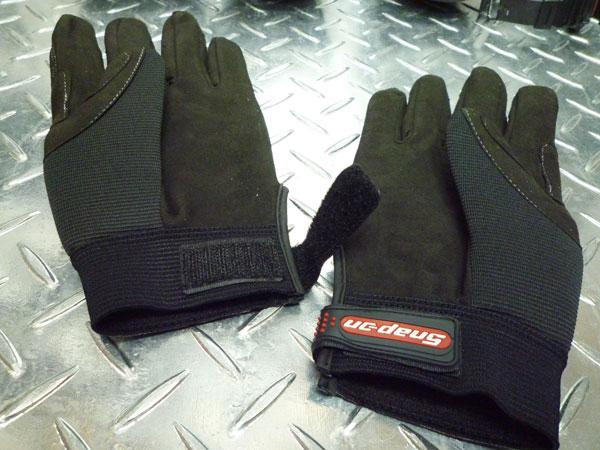 管理单元上 (管理单元上) 力学手套 (黑色) 工作手套手套 [车库工具/snappon]