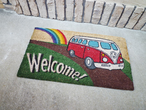 Coco-mat coconut door mat Volkswagen welcome (red) / mat Colyer