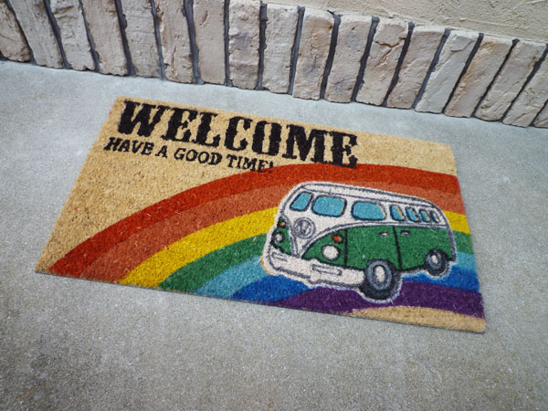 Coco-mat coconut door mat Volkswagen welcome (green) / mat Colyer