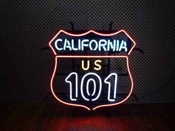 全国送料無料 『CARIFORNIA 101 』カリフォルニア101 ネオンサイン ネオン管 ネオン看板 看板 西海岸風 インテリア アメリカン雑貨