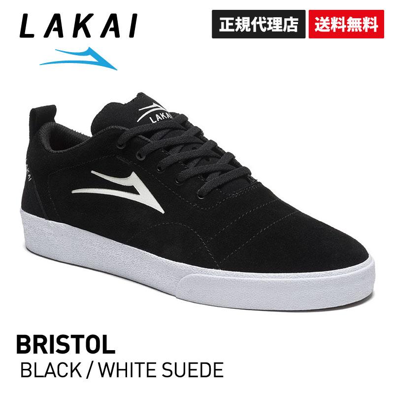 【送料無料】【正規代理店】BRISTOL BLACK/WHITE SUEDE【ラカイ】【スケートボード】【シューズ】