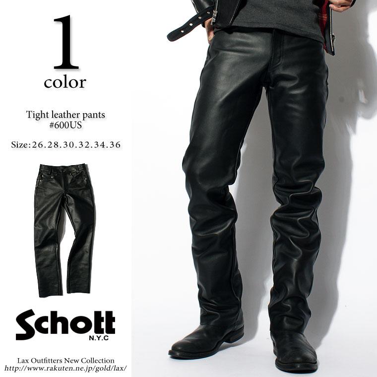 Schott ショット レザーパンツ 600us 7449