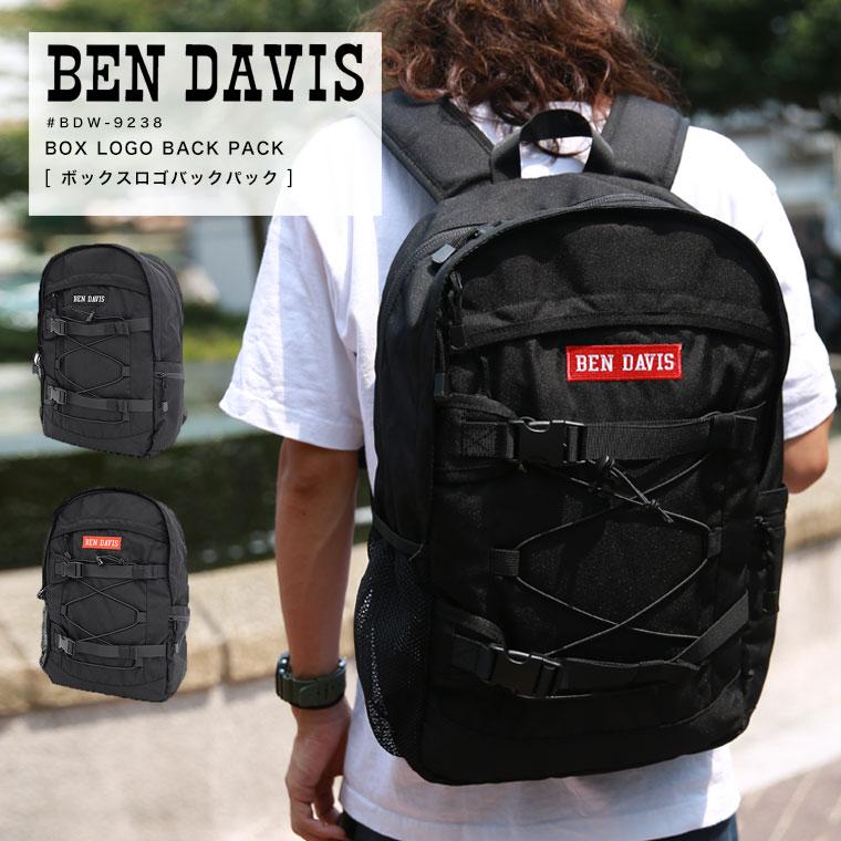 BEN DAVIS ベンデイビス BDW-9238 ボックスロゴバックパック▲【ラッキーシール対応】【SALE 返品・交換不可】
