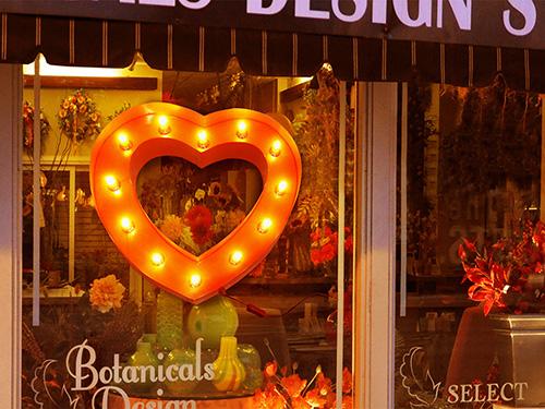 ブリキ立体看板/サイン(電球付き) ハートマーク Heart(全5色) アメリカンサイン・ウィズライト 雑貨 インテリア 店舗什器 *メール便不可 *代引き不可