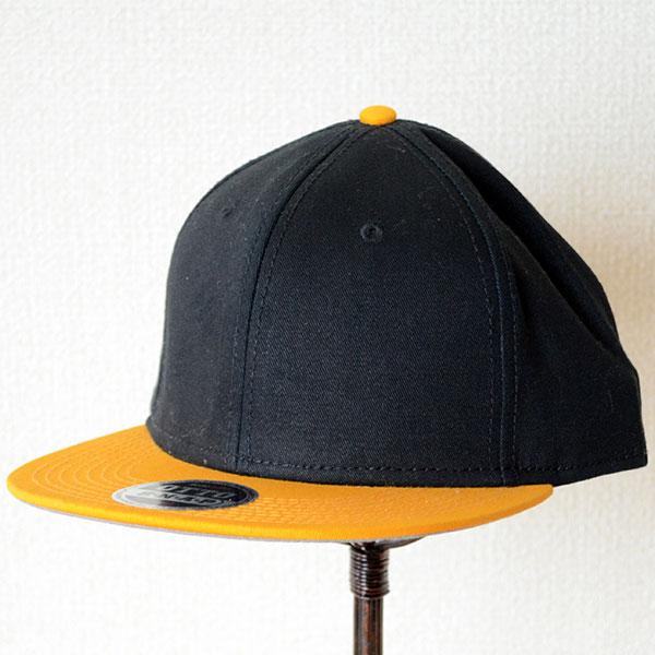 帽子/メッシュキャップ 帽子/キャップ(フラットバイザー/コットン) オットー Otto 無地(イエローゴールド×ブラック/黒)  LB-12-793 *メール便不可
