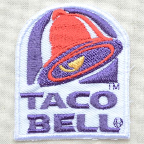 标识徽章Taco Bell Taco Bell LGW-034熨斗附饰物补丁拉丁字母徽章名字军事车迪士尼徽章