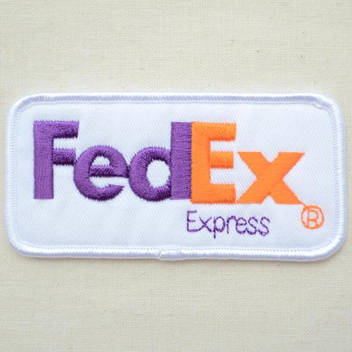 标识徽章FedEX Express联邦快递特快LGW-005熨斗附饰物补丁拉丁字母徽章名字军事车迪士尼徽章