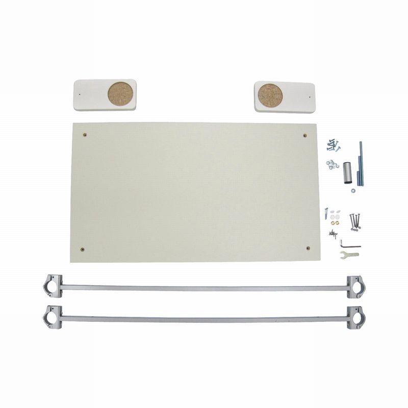 TV壁掛け金具取り付け用パネルキット金具色(シルバー)※ポールは別売りです。HFS900
