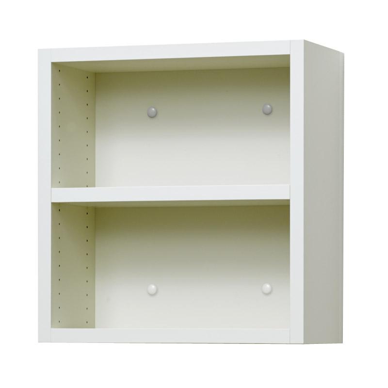 壁掛け収納セット ホッチキス取付タイプ(オープン) LBKB4042(外寸:幅400×奥行181×高さ420)