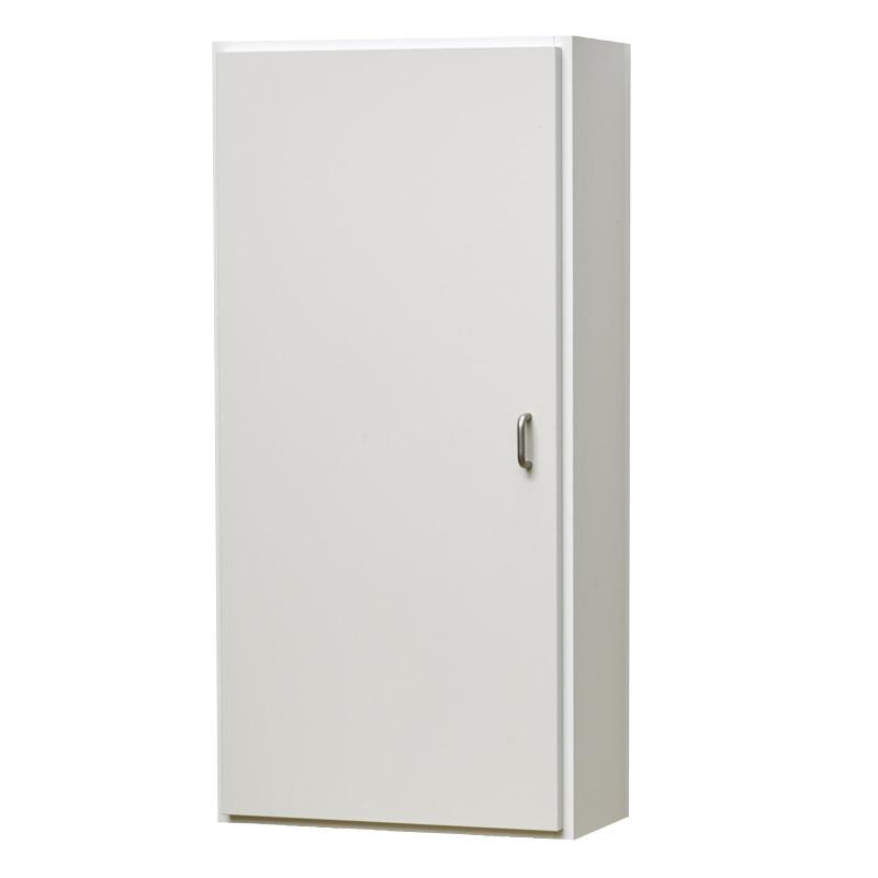 壁掛け収納セット ホッチキス取付タイプ(扉付き) LBKB4082343(外寸:幅400×奥行198×高さ820)