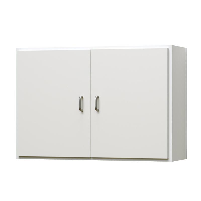 壁掛け収納セット ホッチキス取付タイプ(扉付き) LBKB6242315(外寸:幅620×奥行198×高さ420)