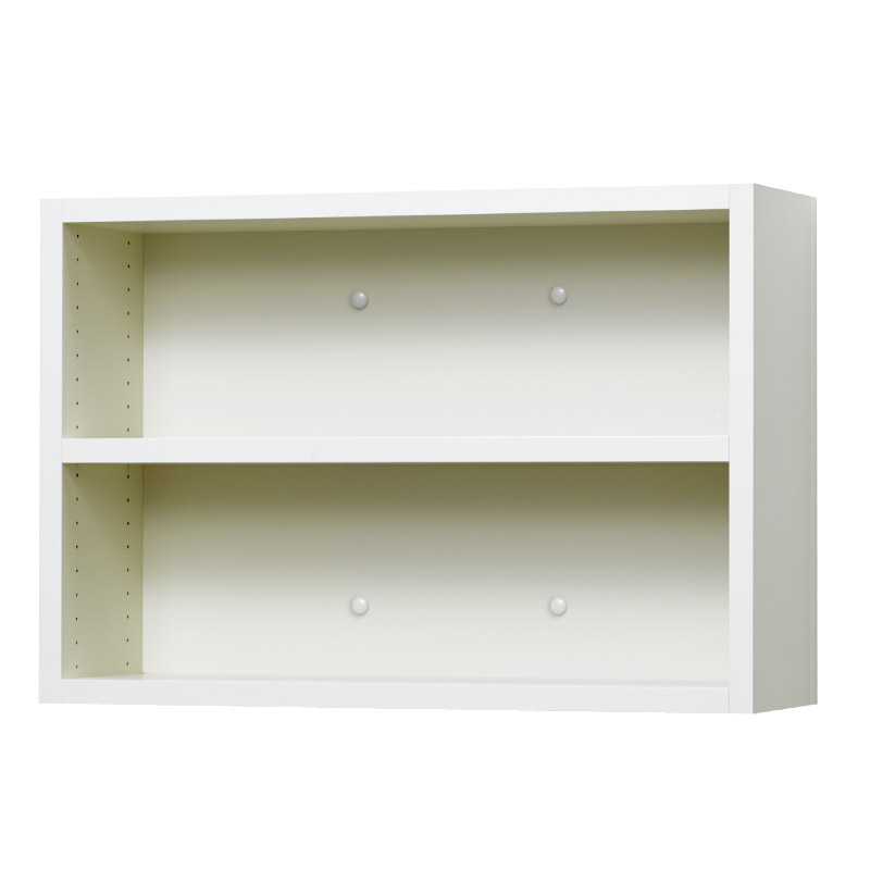 壁掛け収納セット ホッチキス取付タイプ(オープン) LBKB6242(外寸:幅620×奥行181×高さ420)