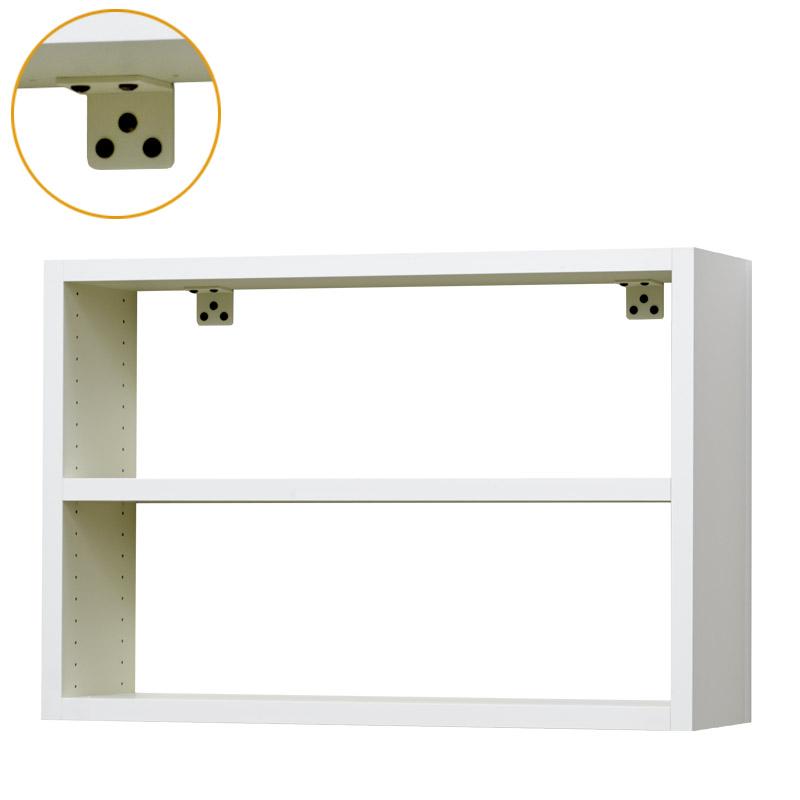 壁掛け収納セット 壁面金具取付タイプ オープン 外寸:幅620×奥行160×高さ420 LBKF6242 買収 ディスカウント
