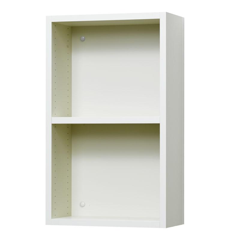 壁掛け収納セット 木ネジ取付タイプ(オープン) LBKS6266(外寸:幅620×奥行181×高さ660)