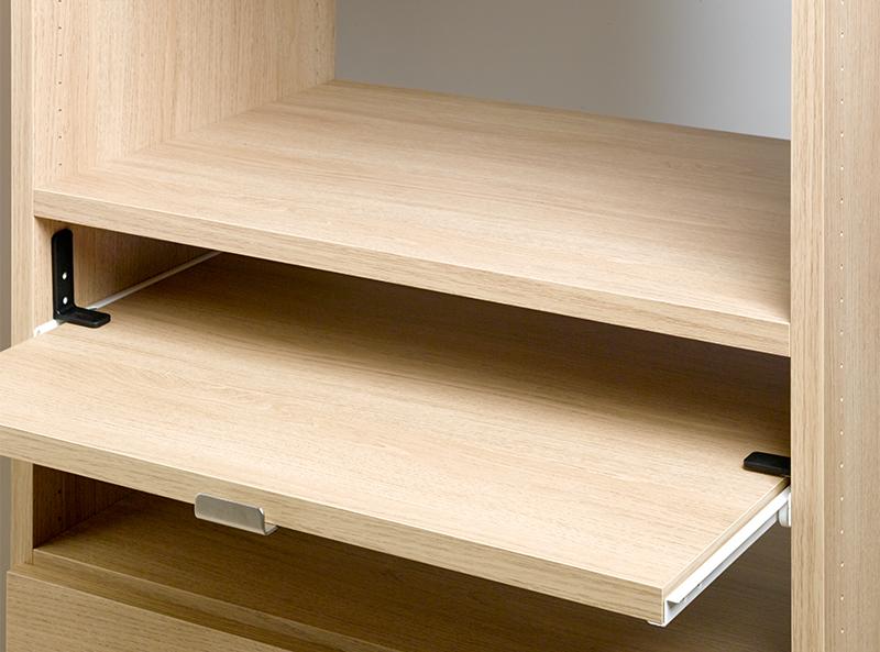 レールで取り付ける棚板だから 必要な時は引っ張り出て使えるスライド棚 キッチン周りや デスク周りに便利なオプションです 半額 スライド棚板 LB610 幅360用 新着セール レール付 幅336×奥行380×厚み20