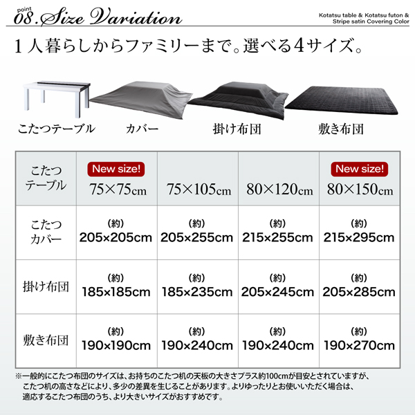 アーバンモダンデザインこたつ VADIT CFK バディット シーエフケー こたつテーブル単品 鏡面仕上 正方形 (75×75cm) コタツ 炬燵