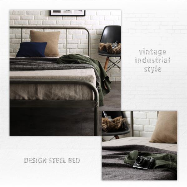 デザインスチールベッド Tiberia2 ティベリア2 ベッドフレームのみ セミダブルサイズ