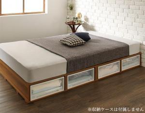 布団で寝られる おしゃれなヴィンテージ・モダン風 引き出し収納バイカラーベッド スタンダードボンネルコイルマットレス付き 引き出しなし シングルサイズ