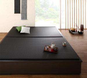お客様組立 大型ベッドサイズの引出収納付き 選べる畳の和モダンデザイン小上がり 夢水花 ユメミハナ 美草畳 ダブルサイズ