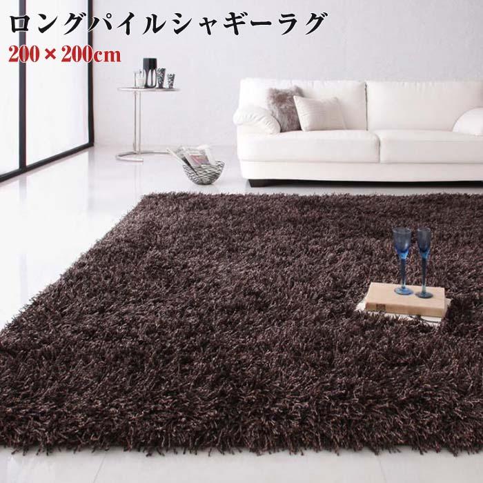 ロングパイル シャギーラグ 【Premina】 プレミナ 200×200cm(代引不可)