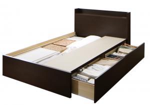 組立設置付 連結 棚・コンセント付収納ベッド Ernesti エルネスティ ベッドフレームのみ Aタイプ セミダブル(代引不可)
