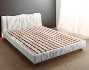 照明付き コンセント付き モダンデザイン ベッド Vesal ヴェサール ベッドフレームのみ ダブルサイズ