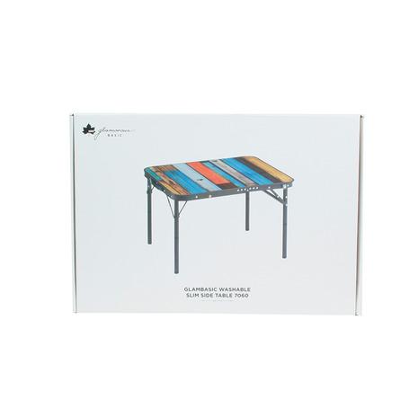 ロゴス(LOGOS) グランベーシック丸洗いスリムサイドテーブル7060 キャンプ アウトドア レジャー (Men's、Lady's)