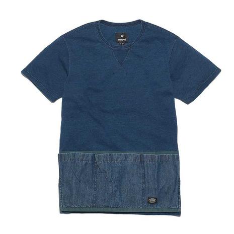 スノーピーク(snow peak) キャンピングインディゴプルオーバー Camping (Men's) Indigo メンズ Pullover SW-17SU1020IN メンズ 半袖Tシャツ 半袖Tシャツ (Men's), 資材PRO-STORE:84f5e0b1 --- sunward.msk.ru