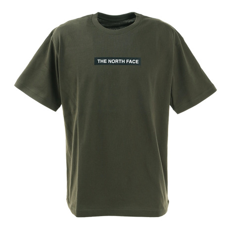 ノースフェイス(THE NORTH FACE) 半袖Tシャツ ショートスリーブボックスロゴティー NT321001X NT シンプル カーキ  (メンズ)