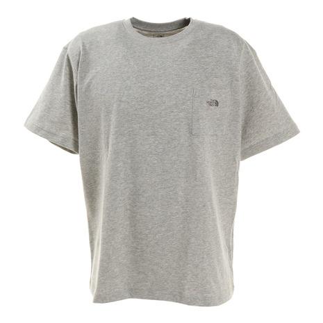 <title>保証 ノースフェイス THE NORTH FACE 半袖Tシャツ ショートスリーブスモールロゴポケットティー NT321003X Z シンプル グレー ワンポイント 胸ポケット メンズ</title>