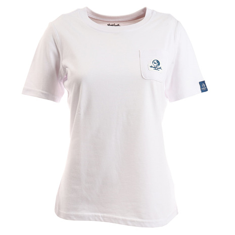 キャンプ トレッキング アウトドア用品のL-Breath エルブレス 値引き 1万円以上ご購入で1000円OFFクーポン有 お値打ち価格で スーパーセール限定 Whole WE21HA17WHT ポケット レディース tシャツ 半袖 Earth