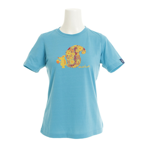 キャンプ NEW トレッキング アウトドア用品のL-Breath エルブレス クーポン配布中 スーパーセール期間限定 Whole WE21HA18TQS Earth SQUIRREL 低価格 tシャツ レディース 半袖