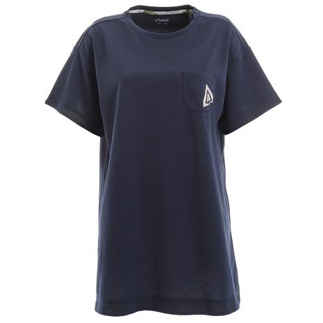 選び方自由 2点以上で5%OFFクーポン☆9 11迄 ブランド買うならブランドオフ フェニックス PHENIX Comfy NV PHA22TS71 半袖Tシャツ レディース Pocket 春の新作