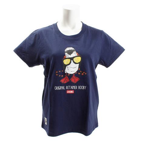 <title>店舗 キャンプ トレッキング アウトドア用品のL-Breath エルブレス チャムス CHUMS ブービーウィズグラッシーズTシャツ CH11-1364 Navy Lady's</title>