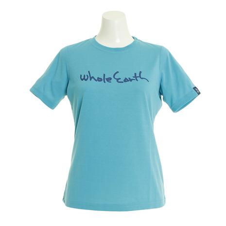 キャンプ トレッキング 特売 アウトドア用品のL-Breath エルブレス クーポン配布中 スーパーセール期間限定 Whole 半袖 レディース ロゴ 即日出荷 tシャツ Earth WE21HA19TQS