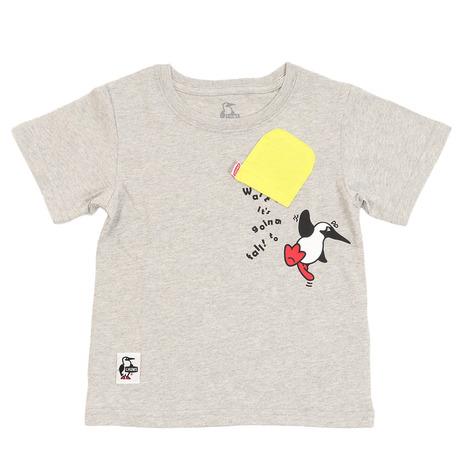 キャンプ 完売 トレッキング アウトドア用品のL-Breath エルブレス チャムス 爆買い送料無料 CHUMS Tシャツ Gray H ブービーハングオン CH21-1095 キッズ 半袖