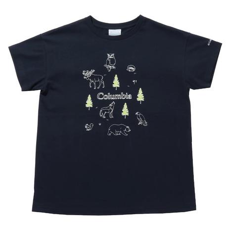 選び方自由 2点以上で5%OFFクーポン☆9 11迄 コロンビア Columbia 半袖Tシャツ ヤハラフォレスト 卸直営 ウィメンズ アニマル PL0189 紺 ネイビー 464 ショートスリーブTシャツ レディース オリジナル かわいい