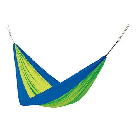 ハイマウント(High MOUNT) パラシュートクロスハンモックダブル ブルー×グリーン 62214 キャンプ用品 (Men's、Lady's)