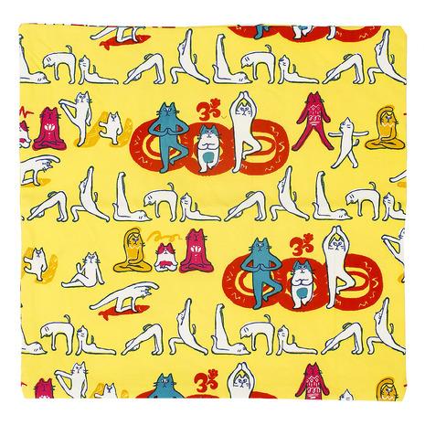 キャンプ トレッキング アウトドア用品のL-Breath エルブレス アミナ ヨガネコ YELLOW Lady's クッションカバー 誕生日プレゼント ISAP8193YEL Men's 卸直営