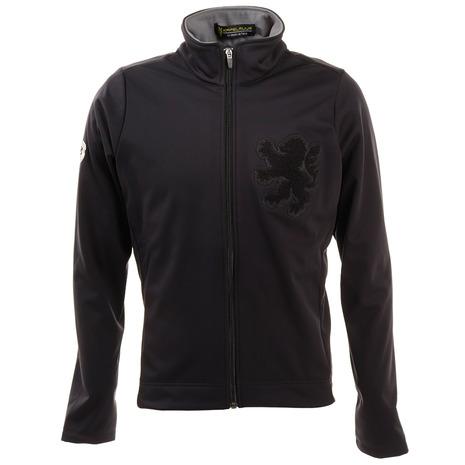 カペルミュール(KAPELMUUR) ウインドシールドジャケット サガラ刺繍 ブラック kpjk133 (メンズ)